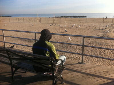 Hans Weiss, 'PETER C. on the day he had lost his job. Brighton Beach, New York, USA (November 23, 2014)'