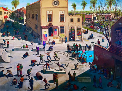 Sandow Birk, 'The Mid-Term Election (Skate Park)', 2018