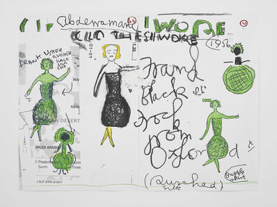 Rose Wylie, 'Clothes I Wore #5', 2019