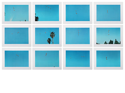 John Baldessari, 'Throwing three balls in the air to get a straight line', 1973