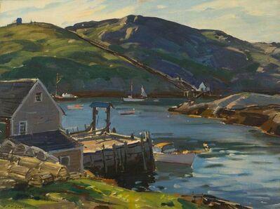 Aldro Thompson Hibbard, 'Monhegan Harbor, Maine', ca. 1950