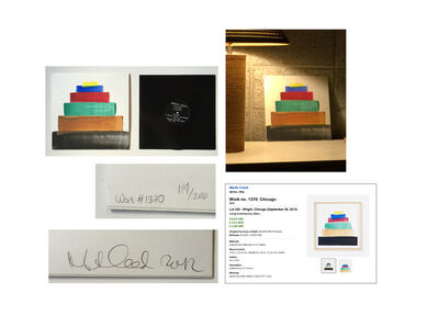 "Martin Creed, '""CHICAGO"", No. 1370, SIGNED Painted Album Cover, Edition of 200.', 2011"