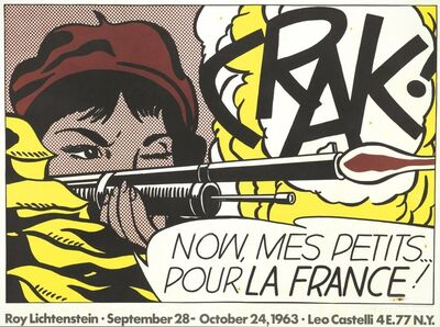 Roy Lichtenstein, 'Crack!'