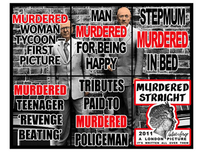 Gilbert and George, 'Murdered straight', 2011