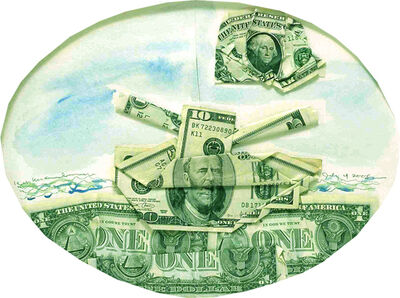 Kim MacConnel, 'Sea of Money', 2005