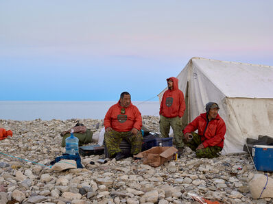 Philip Cheung, 'Rangers John and Steven Ukuqtunnuaq and Simon Tucktoo, King William Island', 2017