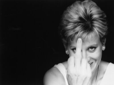 Alison Jackson, 'Diana Finger Up', 2000
