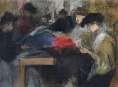 Isaac Israels, 'Seamstress at the Paquin Studio', ca. 1905