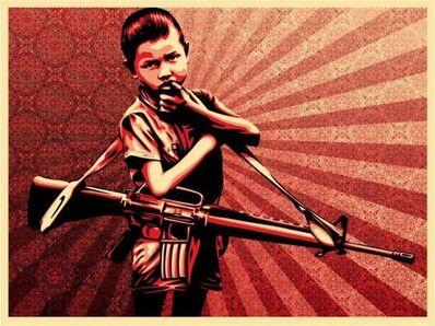 Shepard Fairey, 'Duality of Humanity 5', 2008