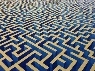 Xu Qu, 'Maze yellow & blue', 2013