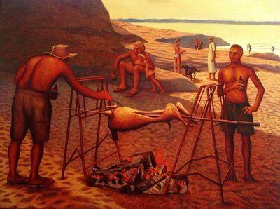 Bob Marchant, 'Celebrating Australia Day at Jibbon beach, Bundeena.', 1994