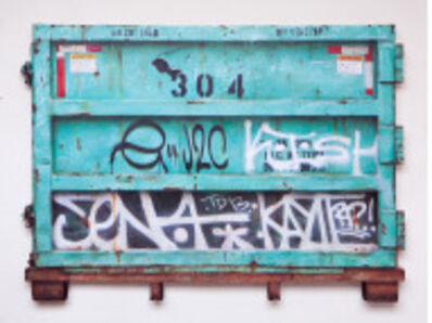 "Dan Witz, '""Dumpster (Green) South Williamsburg""', 2016"