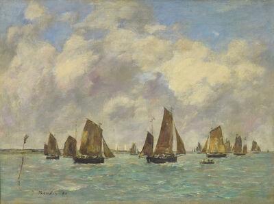 Eugène Boudin, 'Étaples, Sortie des Barques de Pêche', 1890