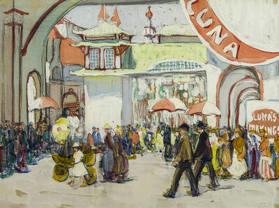 Jane Peterson, 'Luna Park', about 1918
