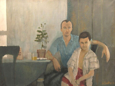 John Button, 'Frank O'Hara and Stevie Rivers', 1956