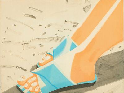 Alex Katz, 'Beach Sandals', 1987