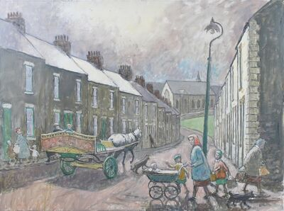 Norman Cornish, 'Salvin Street with horse and cart', ca. 1970