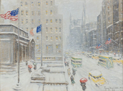 Guy Carleton Wiggins, ' Winter at the Library ', 1919