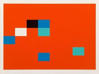 Kyohei Inukai (1913-1985), 'Seven Units on Red', 1978