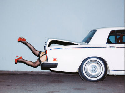 Tyler Shields, 'Rumers in the Boot', 2014