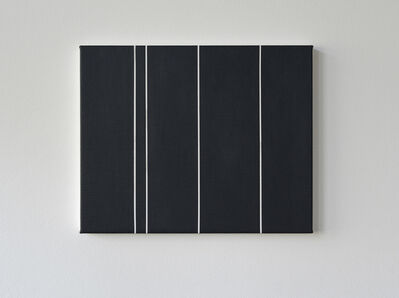 Kristina Matousch, 'Cover, white stripe', 2019