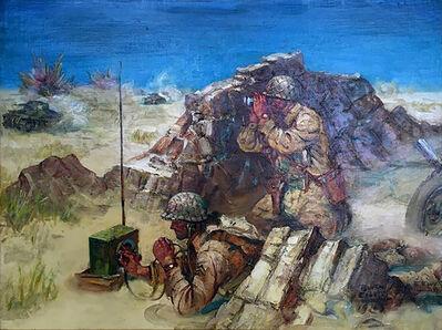 Benton Clark, 'World War Two Tank Battle', 1943