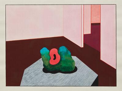 Ken Price, 'Interior with Sculpture', 1990