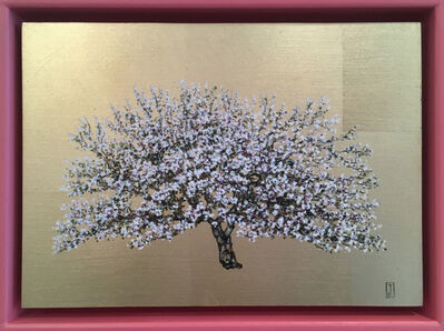 Jack Frame, 'Blooming Collection : White Blossom in Pink Frame'