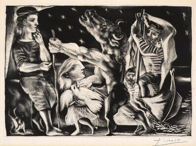 Pablo Picasso, 'Minotaure aveugle guidé par une fillette dans la nuit [Blind Minotaur Guided by a Young Girl in the Night]', 1933-1934