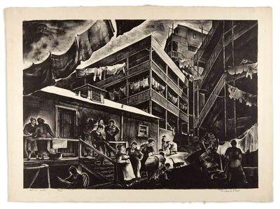 millard Sheets, 'FAMILY FLATS', circa 1935