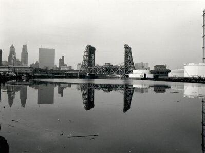 Ray Mortenson, 'Newark, Amtrak-PATH Bridge, Gas Tank, from the Passaic River', 1982