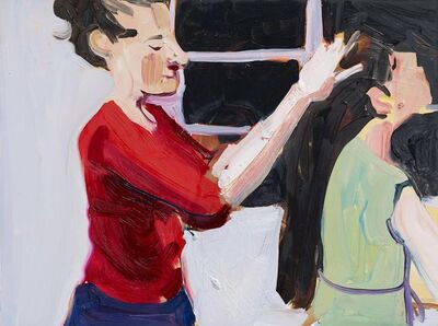 Chantal Joffe, 'Self-Portrait Brushing Esme's Hair', 2017