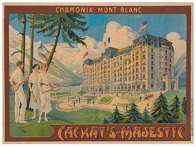 Candido Aragonez de Faria, 'Chamonix - Mont - Blanc, Cachat's Majestic', 1920