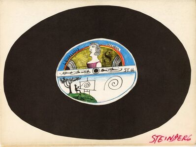 """Saul Steinberg, '""""Levallois Records"""" from Derrière le Miroir #157, Hand Signed', 1965-1966"""