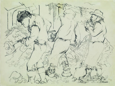 George Grosz, 'Spalatori Di Neve'