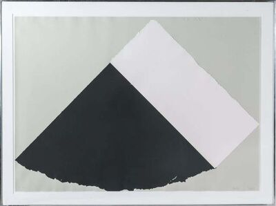 Ellsworth Kelly, 'Dark Gray and White', 1977-79