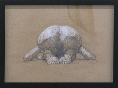 Sandro Kopp, 'Crouched Nude', 2017