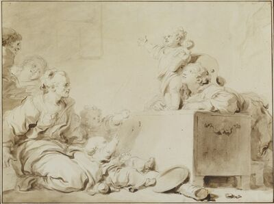 Jean-Honoré Fragonard, 'The Little Preacher', late 1770s