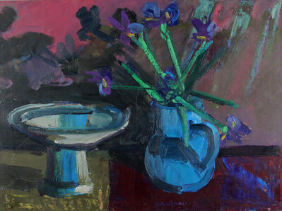 Brian Ballard, 'Flowers In Vase With Bowl II'