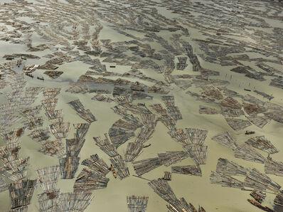 Edward Burtynsky, 'Saw Mills #3, Log Booms, Lagos, Nigeria', 2016