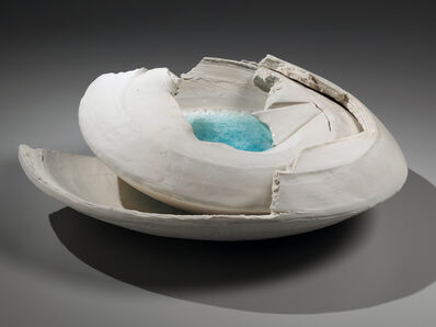 Machiko Ogawa, 'Hekiyū haban: Torn Vessel with Blue-green Glass', 2014