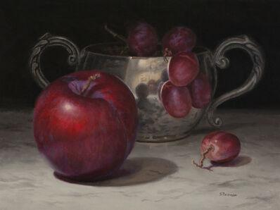 Susan Paterson, 'Plums, Grapes, and Sugar Bowl', 2019