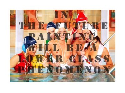 Klaus vom Bruch, 'In The Future Painting Will Be a Lower Class Phenomenon', 2010