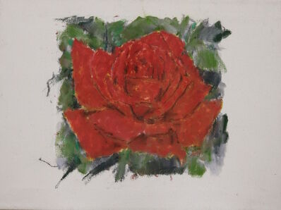 Christian Lindow, 'Ohne Titel (Rose)', 1988