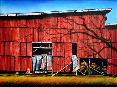 William Dunlap, 'Red Wall I'