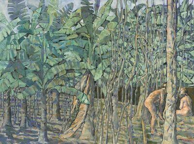 Armando Morales, 'Plantación con dos figuras'