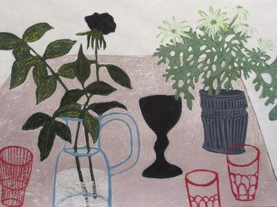 Angela A'Court, 'Three Red Glasses', 2016