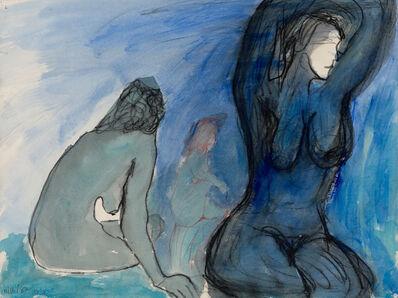 Lawrence Ferlinghetti, 'In a Blue Mood', 1982