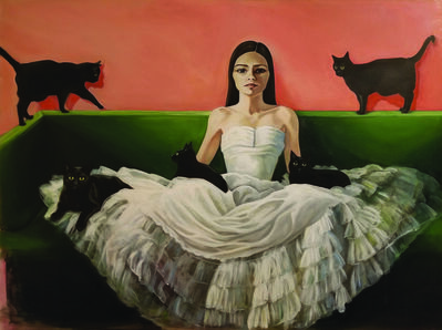 Melanie Munns Antonelli, 'Mid-century Cat Lady'