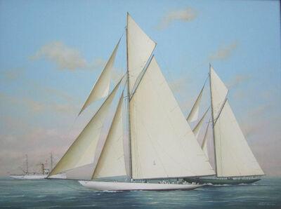 Richard Lane, 'Start of the Race, Columbia & Shamrock II, 1901', 2018